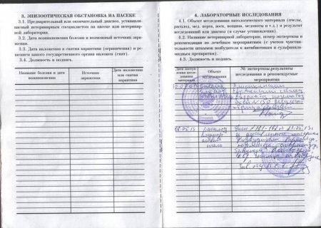 ветеринарное-санитарный паспорт пасеки, лист 4